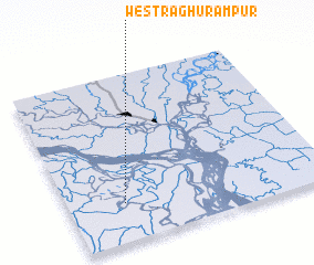 3d view of West Raghurāmpur