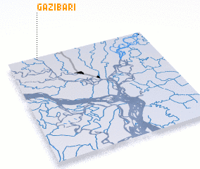 3d view of Gāzībāri