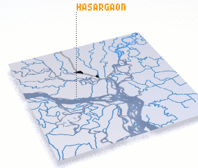 3d view of Hāsārgaon