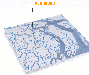 3d view of Hosanābād