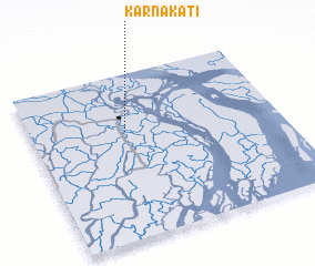 3d view of Karnākāti