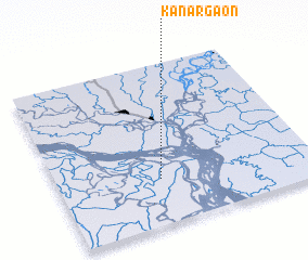 3d view of Kānargaon