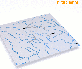 3d view of Dighākāndi