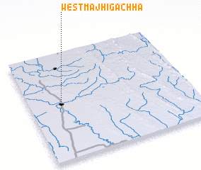 3d view of West Majhīgāchha