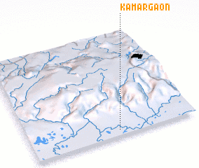 3d view of Kāmārgaon