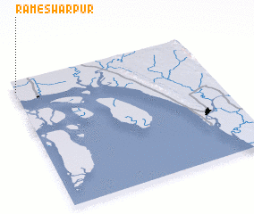 3d view of Rāmeswarpur