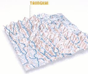 3d view of Taung Kai