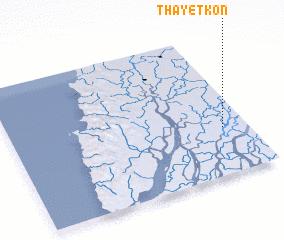 3d view of Thayetkôn