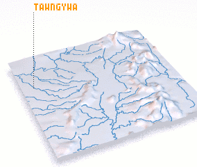 3d view of Tawng-ywa