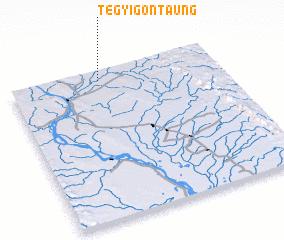 3d view of Tègyigon Taung