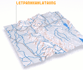 3d view of Letpanhkahla Taung