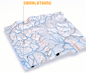 3d view of Shinhla Taung