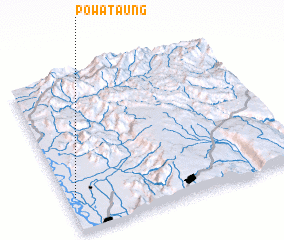 3d view of Powa Taung