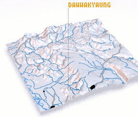 3d view of Daw-wa-kyaung