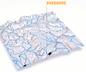 3d view of Pwedaung