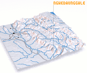3d view of Ngwedaunggale