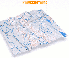 3d view of Kyaukkwe Taung