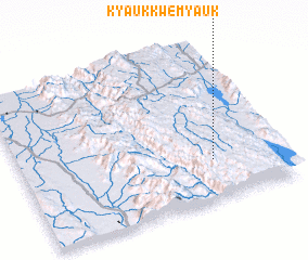 3d view of Kyaukkwe Myauk