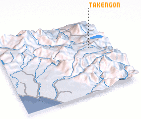 3d view of Takengon