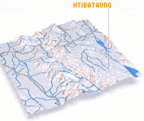 3d view of Htiba Taung