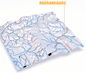 3d view of Mān Na-hkawng