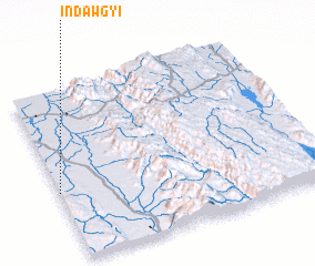 3d view of Indawgyi