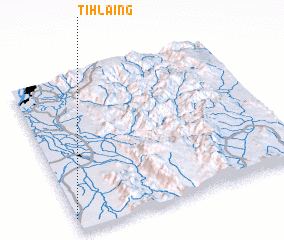 3d view of Tihlaing