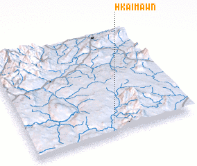 3d view of Hkai-mawn