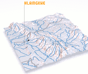 3d view of Hlaingkwe