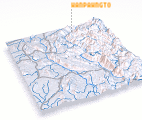 3d view of Wān Pawngto