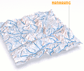 3d view of Mān Hawng