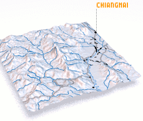3d view of Chiang Mai