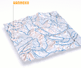 3d view of Wān Mè-ko