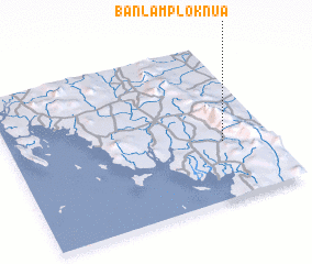 3d view of Ban Lam Plok Nua
