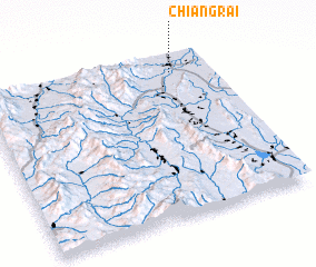 3d view of Chiang Rai