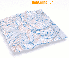 3d view of Wān Lawngmün